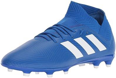 check out de8a2 403f8 adidas Unisex Nemeziz 18.3 Firm Ground Soccer Shoe, White Football Blue,  10.5K M