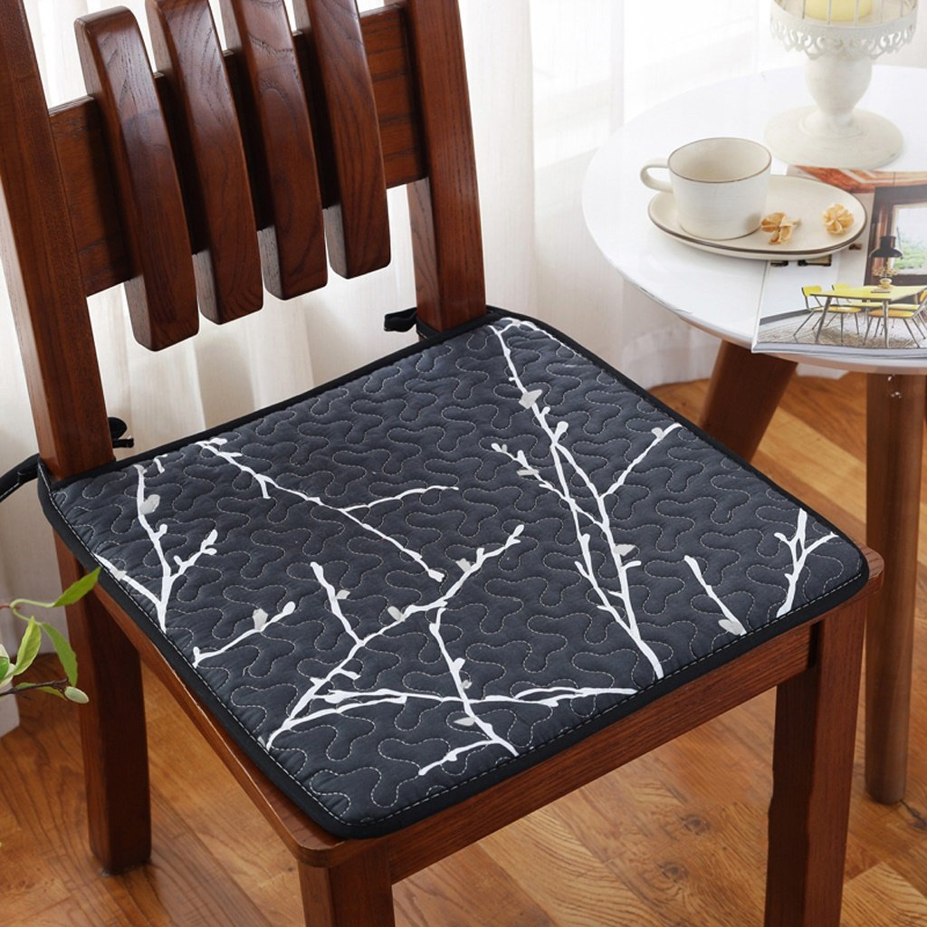 MMM Summer Thicken Non Slip Cloth Art Chair Cushion Office Cushions Four Seasons Thin Section Dining Pad Student Stool Mat Color 8
