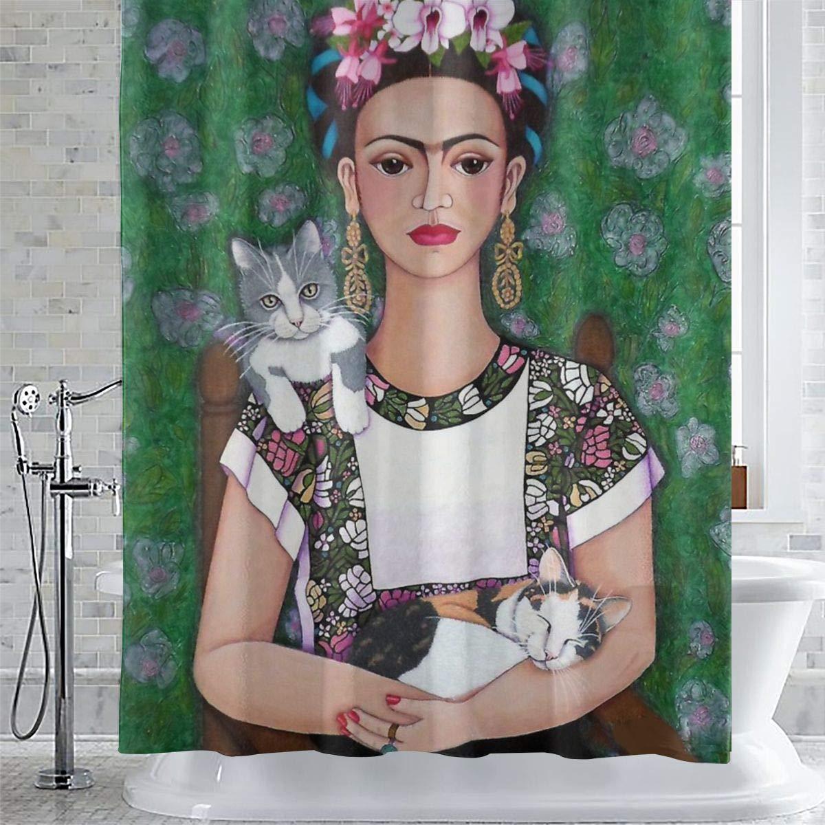 Impermeabile Lavabile Sotyi-ltd Frida 183 x 183 cm Resistente alla Muffa Tenda da Doccia con 12 Ganci
