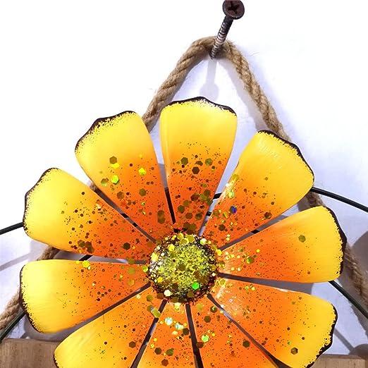 Schwarz dekorative Blumentopf Stehen f/ür drinnen und drau/ßen f/ür Garten Balkon Dekoration Terrasse Garten h/ängen Blumenst/änder signmeili Eisen h/ängen Korb