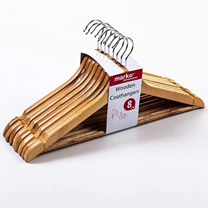 24 x percheros para ropa de perchas de madera para colgar la ...