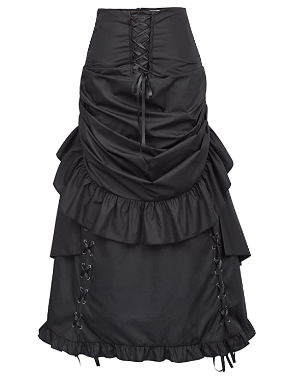 Victorian Costumes: Dresses, Saloon Girls, Southern Belle, Witch Belle Poque Women Steampunk Gothic Bustle Skirt Victorian Costume $45.99 AT vintagedancer.com