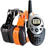 Shock Collar Remote Controlled Dog Training Collar,Rechargeable and Waterproof,All Size Dogs(10Lbs-100Lbs),550(yard) Range
