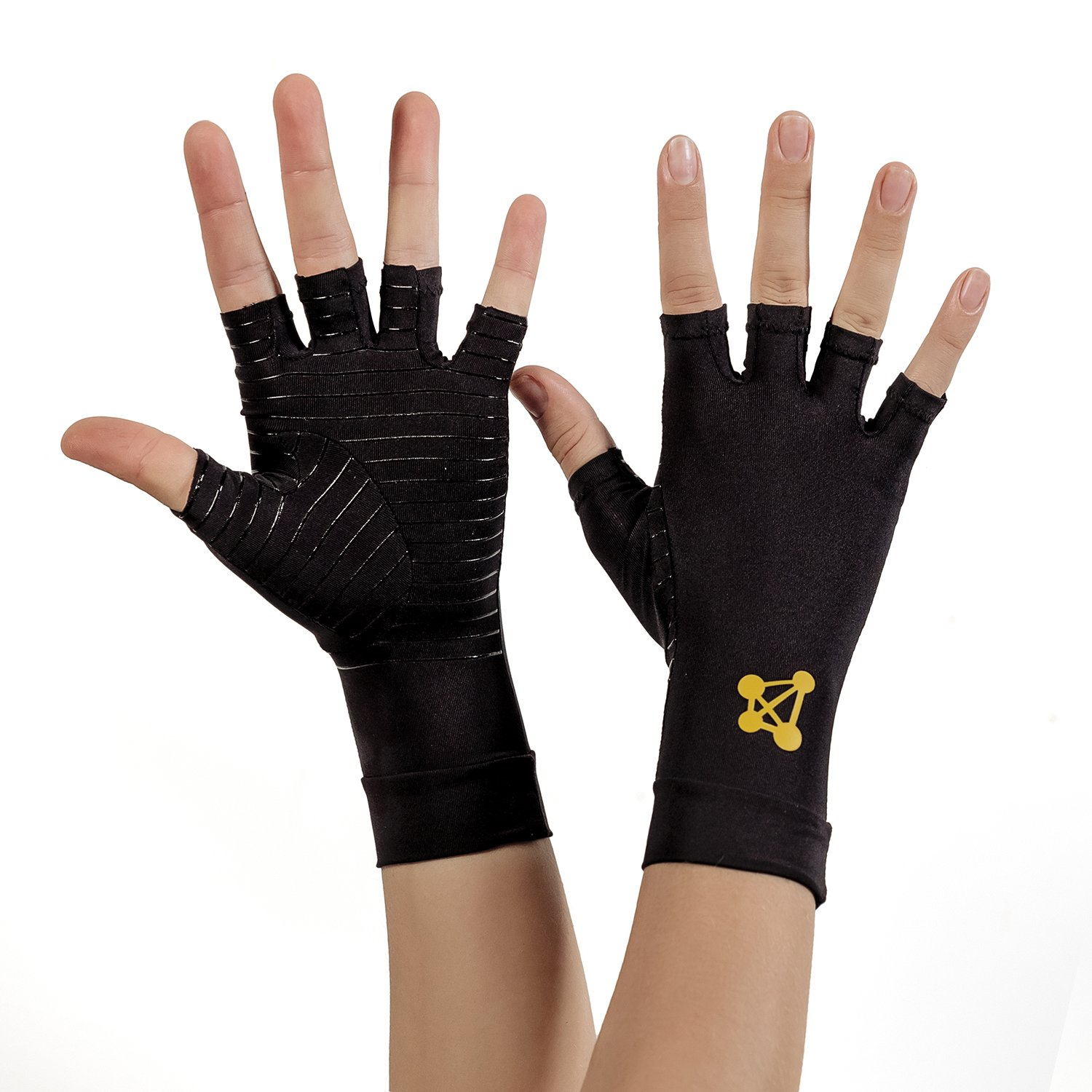 CopperJoint Copper-Infused Fingerless Compression Gloves, Designed to Support Enhanced Performance, Rapid Recovery and Pain Relief for All Lifestyles, Pair