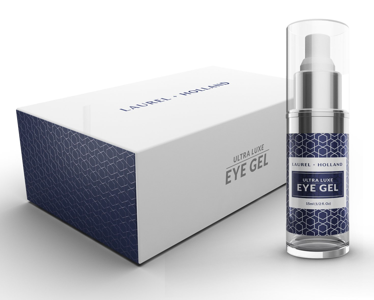 Eye Serum with Matrixyl - Revitalizing Anti Aging Eye Cream Gel Instant Tightening, Firming for Wrinkles, Crow's Feet, Bags, Dark Circles and Puffy Eyes Diminish by LAUREL + HOLLAND