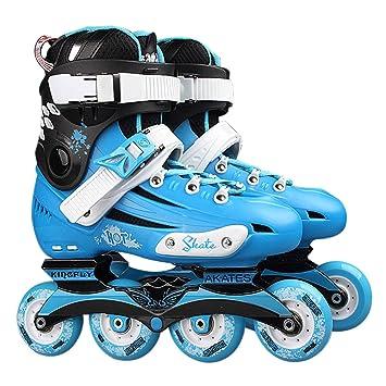 Redstrong Zapatos de Patines Profesionales Patines de una Sola Fila de Lujo Patines en línea para Adultos Patines de Patinaje universales para Hombres y ...