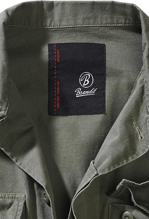 Brandit BDU Twill Jacket Chaqueta Entre-Tiempo Negro: Amazon.es: Ropa y accesorios