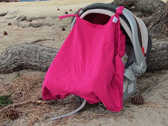 Baby Carriers /& Strollers Little Goat Sun Cover UPF 50 for Car Seats Pink