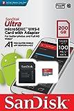 サンディスク ( SANDISK ) 200GB microSDXC アダプター付き [海外パッケージ] SDSQUAR-200G-GN6MA