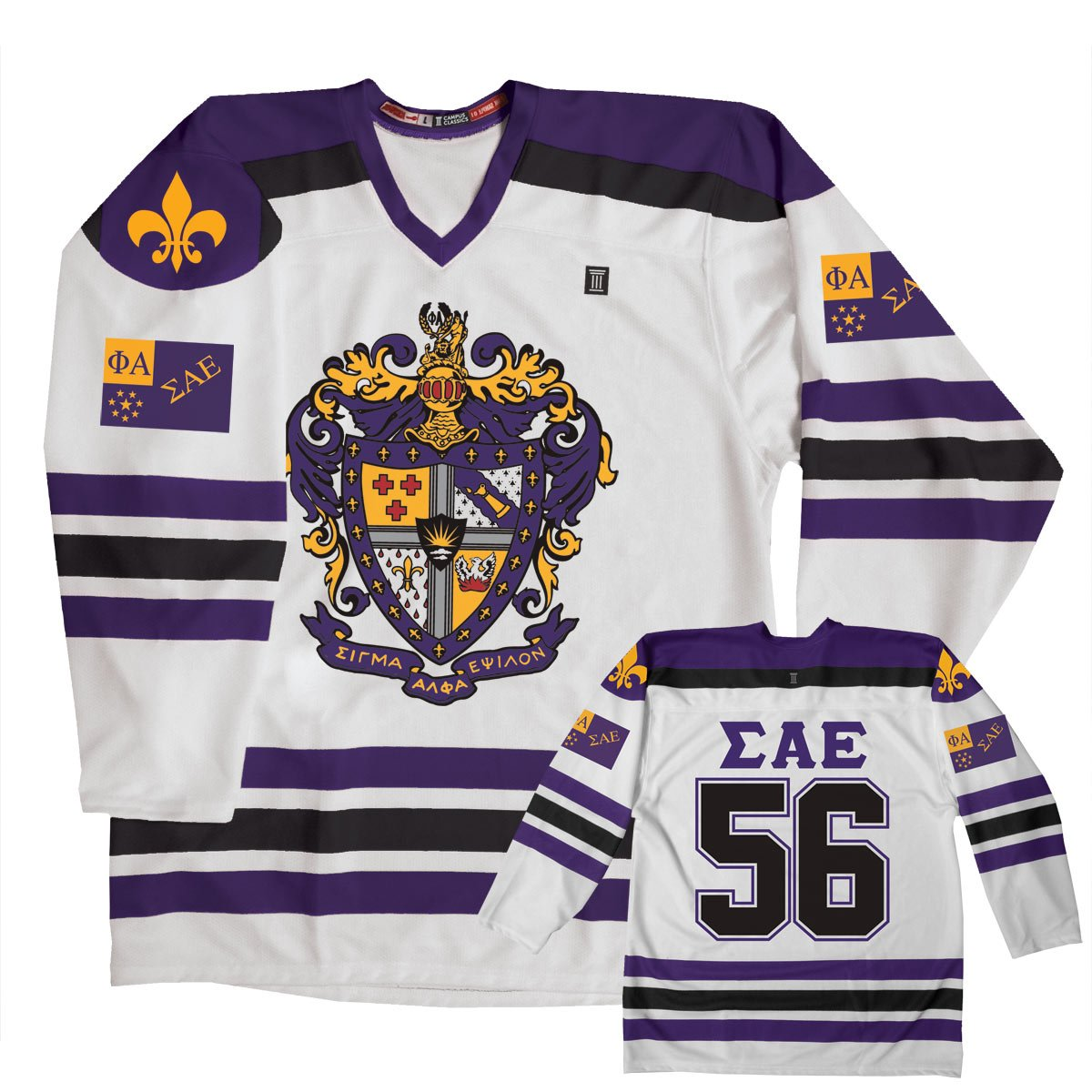 Amazon.com  Campus Classics SAE Hockey Jersey White  Clothing 893598e87dd