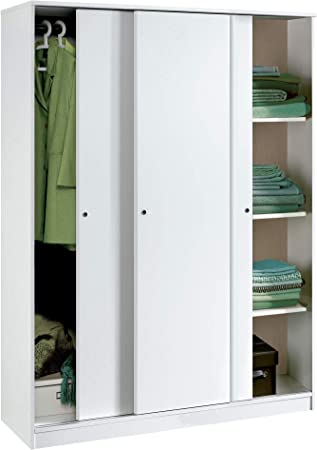 Práctico armario ropero de 3 puertas correderas de gran capacidad para que puedas almacenar toda tu