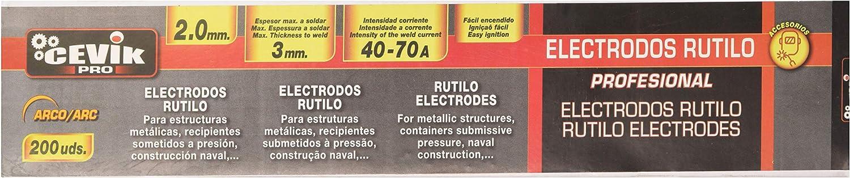 Cevik TECA2002.0RU - Caja 200 uds electrodos rutilo 2 mm: Amazon.es: Bricolaje y herramientas