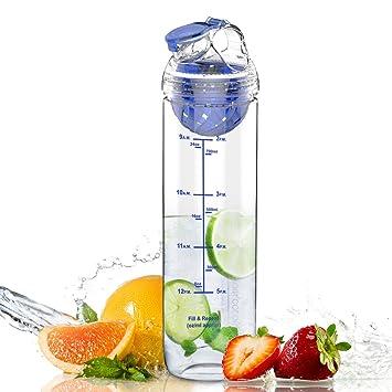 800ml Botellas de Agua, Grandes 800 ml Con Filtro de Infusor de Fruta y Botella