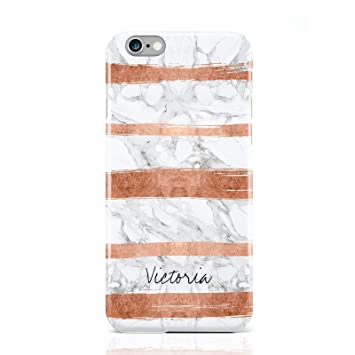 watch 12fed 62447 PERSONALISED ROSE GOLD BRUSH MARBLE INITIAL PHONE CASE FOR APPLE IPHONE 6 6S