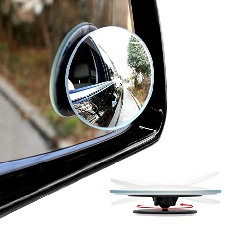 Convex Rear View Mirror /& Passenger Side Mirrors for All Cars Blind Spot Mirror