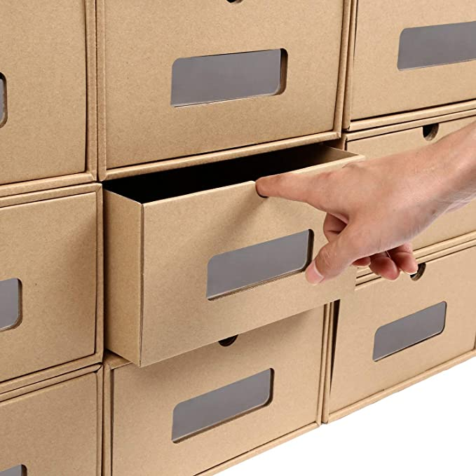 cart/ón Ximger Juego de Cajas de Almacenamiento apilables para Zapatos