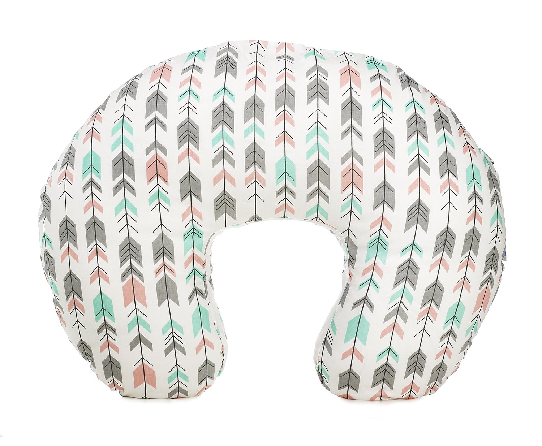 Org Store Premium Nursing Pillow Cover | Slipcover for Breastfeeding Pillows | Fits Most Boppy Pillows (Pink|Mint |Gray) (Pink/Mint/Gray) by Org Store