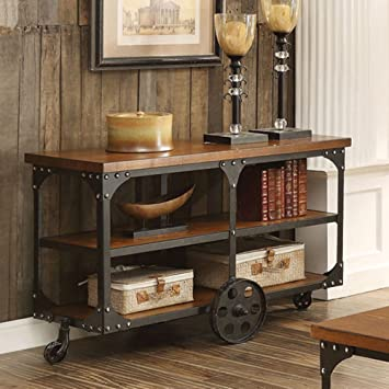 rustic sofa table ideas images with drawers coaster home furnishings brown