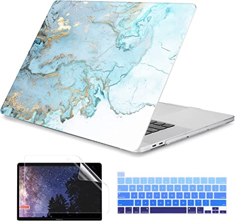 Blue Ink Batianda Hard Case for MacBook Pro 16 inch 2019 2020 Release A2141 Ultra Slim Plastic Protective Shell Case /& Keyboard Cover Compatible with Newest MacBook Pro 16 Touch Bar