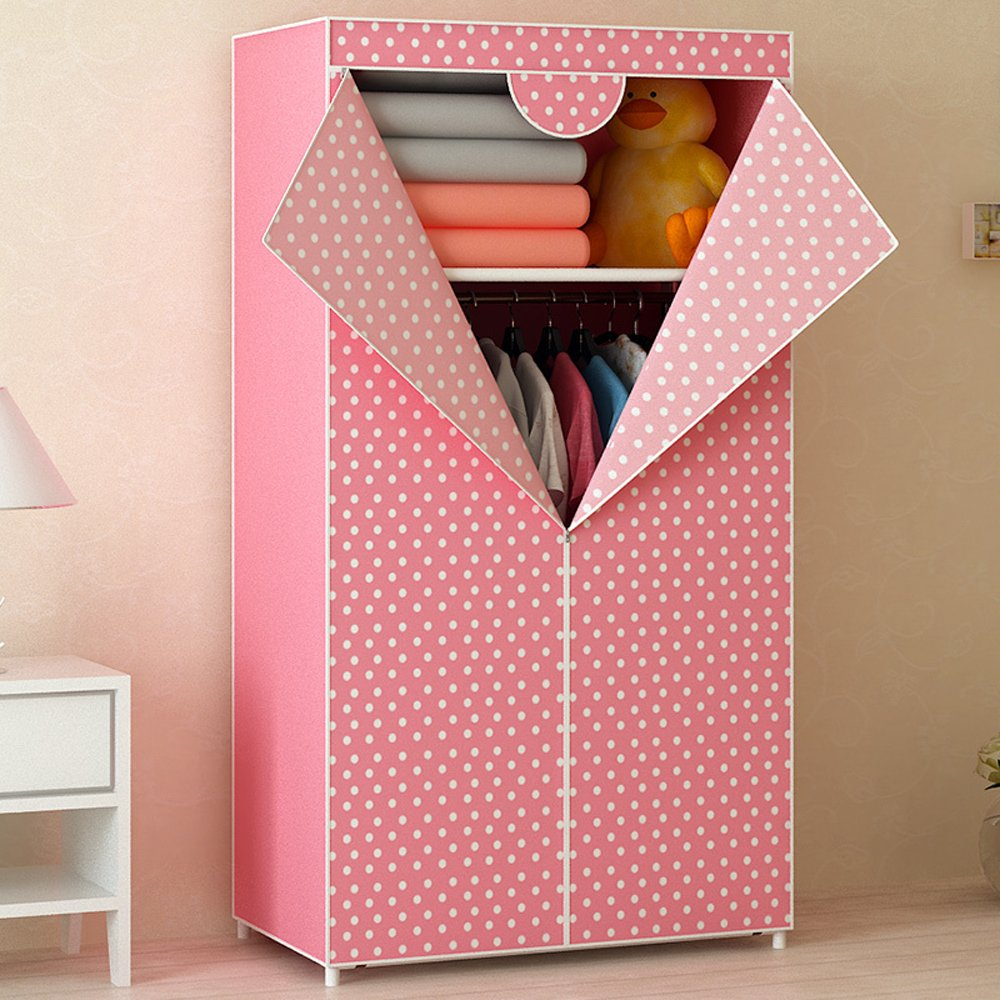 Generic Brand New Fashion Single Folding Wardrobe Reinforced Bold Closet Dustproof Waterproof Moistureproof Armoire