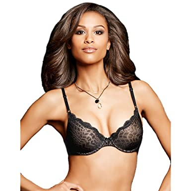 56a6eaf940 Maidenform One Fab Fit Embellished Demi T-Shirt Bra BK With Body BG  Lining 34B