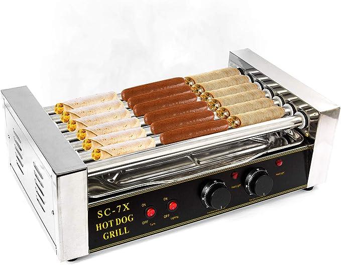 Hot Dog Maker Grill Gerät Hotdog Grill bis 11 Rollen und bis 20 Hotdogs Erhitzer