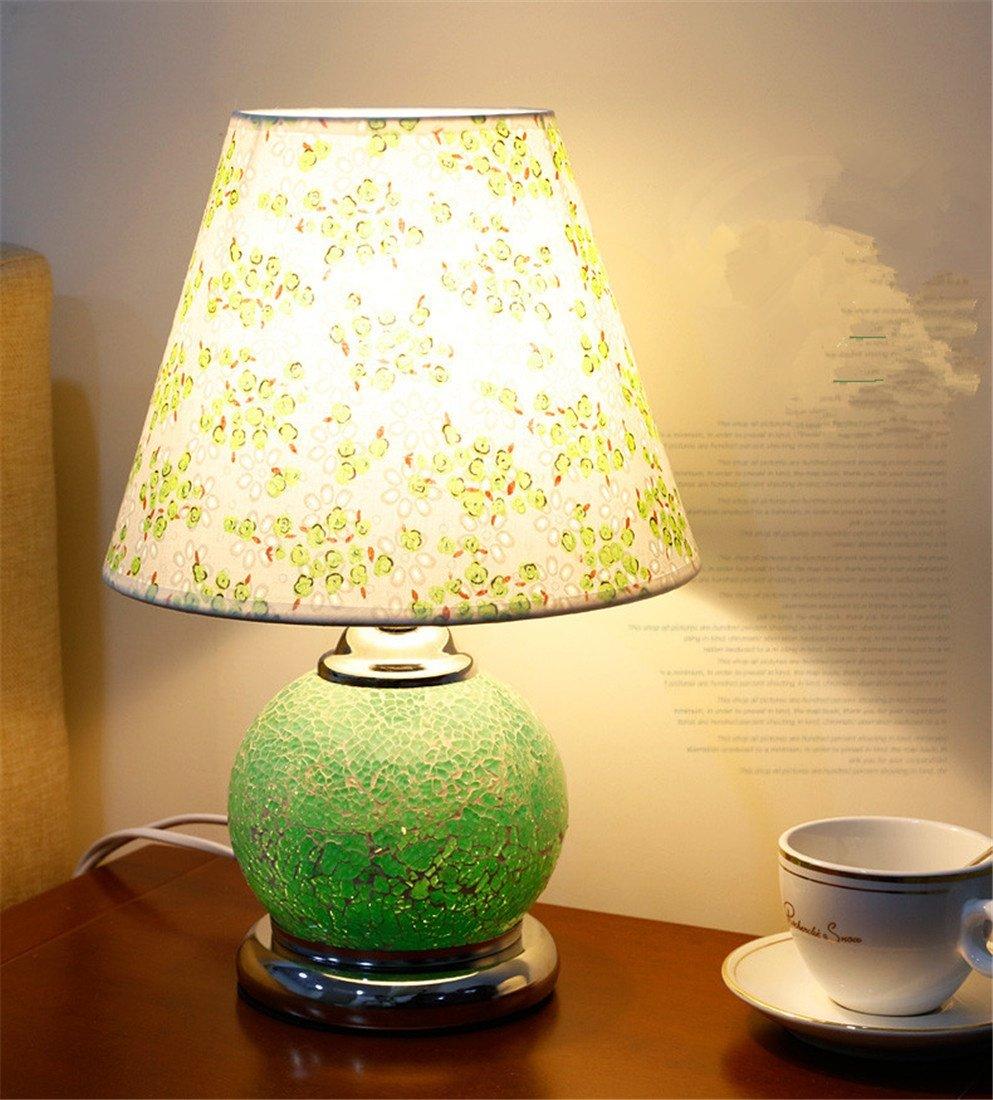 BENJUN vetro verde semplice moda creativa carino caldo romantico LED lampada da tavolo camera da letto soggiorno studio camera per bambini 25  38 cm