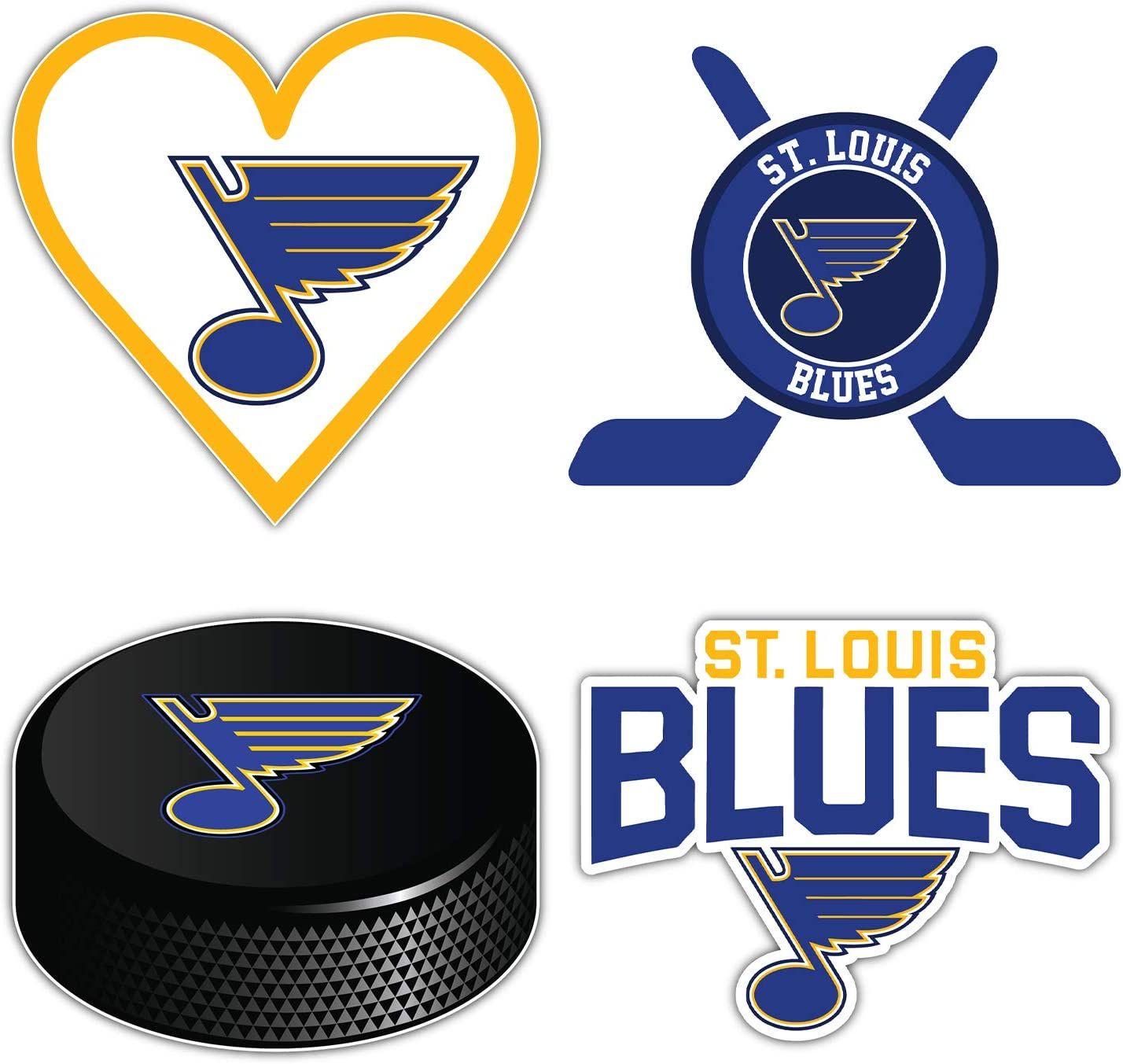 St. Louis City Blue Hockey Die-Cut Sticker - Set of 4 Decals 5