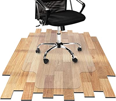 OfficeMarshal Desk Chair Mat for Hardwood Floor