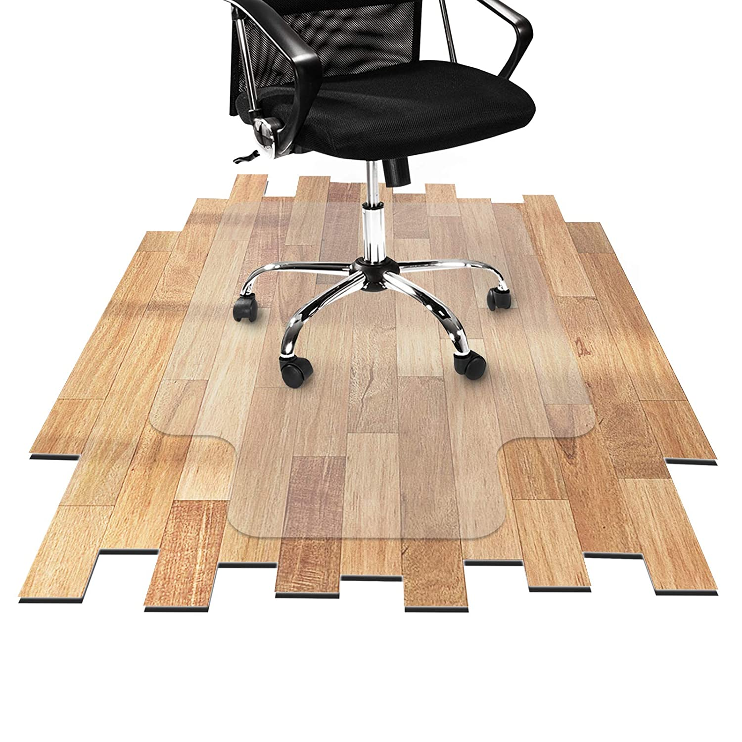 """Desk Chair Mat for Hardwood Floor - Hard Floor Protection Mat for Office & Home 