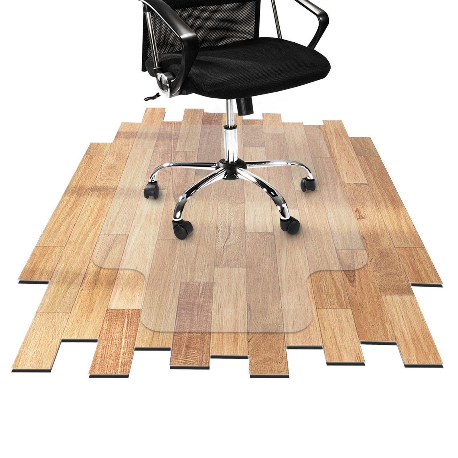 Desk Chair Mat for Hardwood Floor - Hard Floor Protection Mat for Office & Home | Many Sizes Available | Clear - 36'' x 48'' with Lip