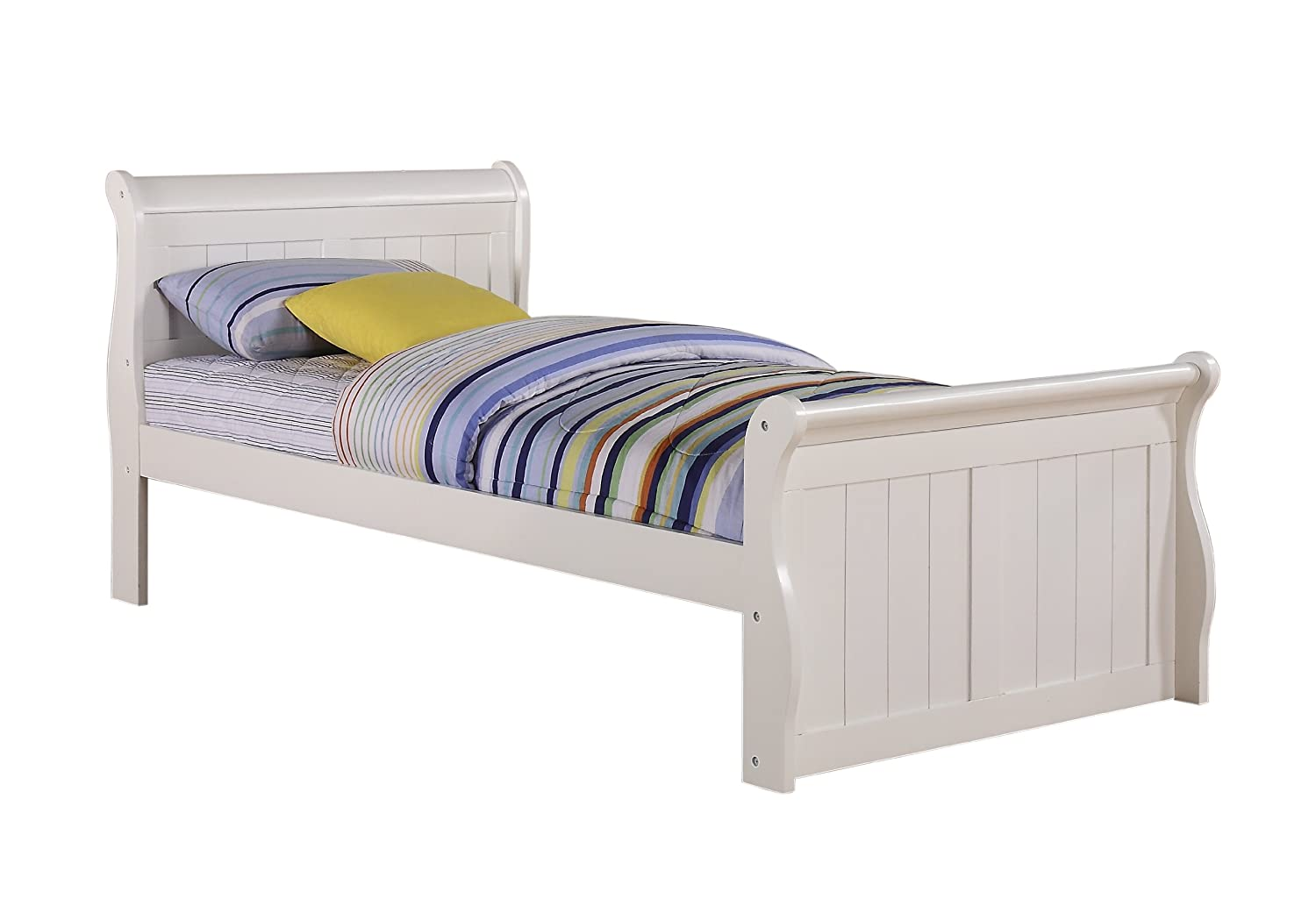 - Amazon.com: Twin White Sleigh Bed By Donco: Kitchen & Dining