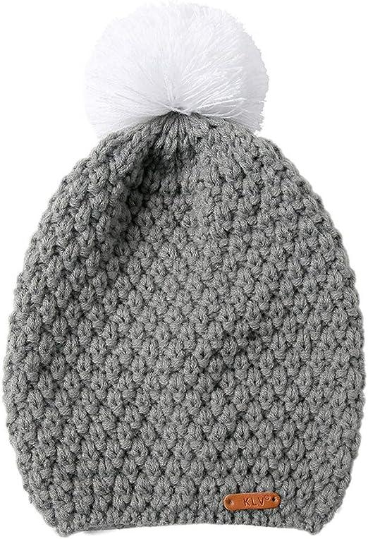 Scrox 1x Gorros Invierno Mujer Lanas para Tejer Sombrero Unisex ...