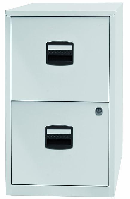 Bisley Steel 2 Drawer Filing Cabinet - Chalk White: Amazon.co.uk ...