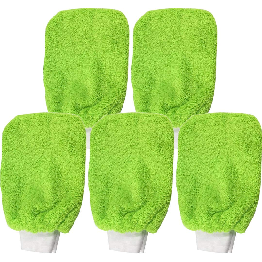 CABURIclean Lot de 5 gants en microfibre multi-fonctions N/° 18 Lot de 5 gants en microfibre Vert 16 x 20 cm