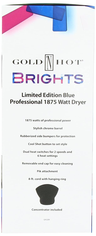 Amazon.com: Gold N Hot 1875-Watt Professional Switch Dryer, Blue Dual: Beauty