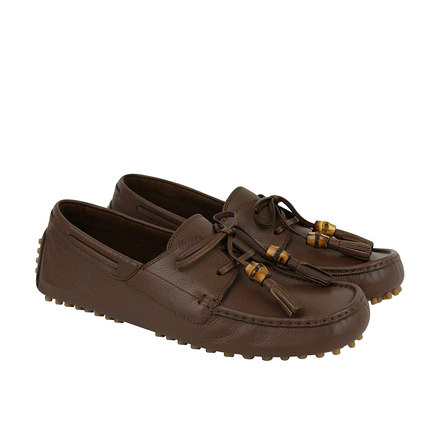 c8a6cc75f Amazon.com: Gucci Bamboo Tassel Brown Leather Loafer Driver 367923 2138:  Shoes