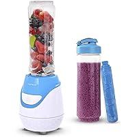 Aigostar Greenberry & Blackberry & Blueberry - Batidora de vaso portátil, 600W, tubo refrigerante, incluye 2 vasos portátiles de Tritan de 600 ml y 2 tapas. Libre de BPA. Diseño exclusivo.