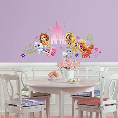 RoomMates Disney Princess Palace Pets Wall Graphic Peel and Stick Wall Decals, ,: Home Improvement