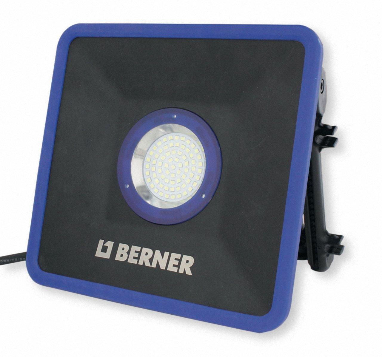 BERNER LED BAUSTRAHLER STRAHLER BLACK SLIM PLUS 230V 32 WATT