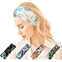 Twinfree 5 Pack Women Headband Flower Style Cross Head Wrap Hair Band