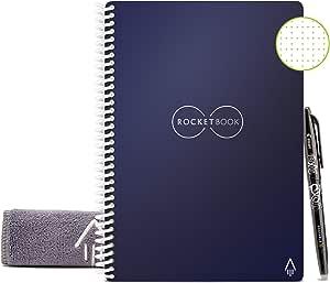 Rocketbook Cuaderno Digital Inteligente Core Diario Reutilizable - Tamaño Letter A4 Azul