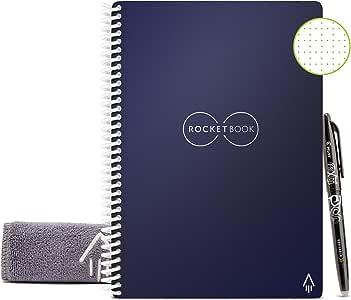 Rocketbook Cuaderno Digital Inteligente Core Diario Reutilizable - Azul, Punteado, Executive A5