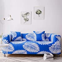 Sofa Slipcover Bird Tree Pattern Stretch Settee Couch Sofa Covers Pet Dog Protector 1 2 3 4 Seater (1 Seater, Big Leaf)
