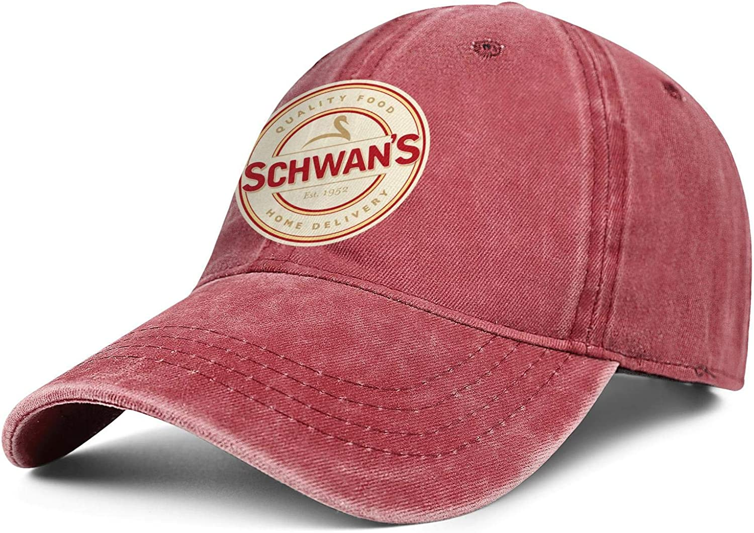 Schwans-Logo Snapback Trucker Denim Cap Top Level Hats Relaxed Hat