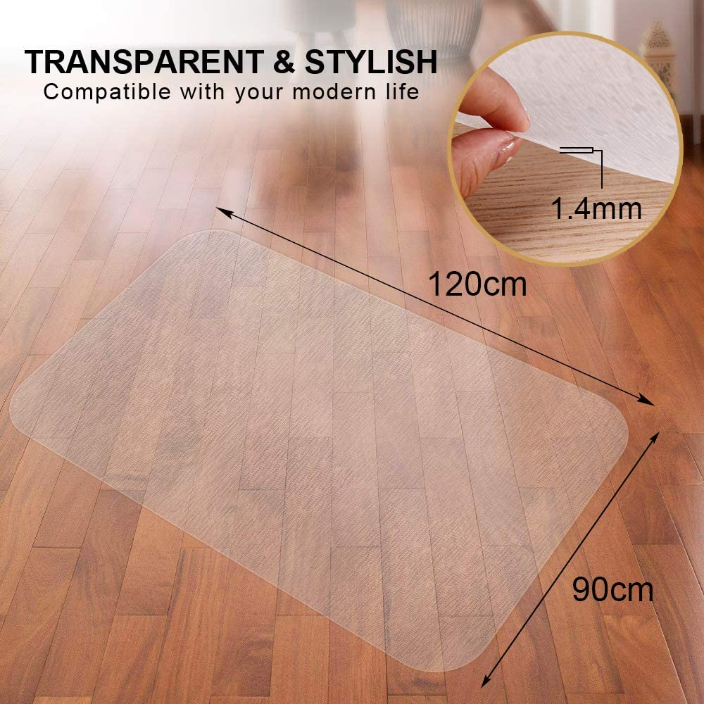 Elegear 90x120cm Chair Mat for Hard Floor EVA Non-Slip Office Chair Mat 1.4mm Thick High Impact Strength Hard Floor Protector for Office and Home