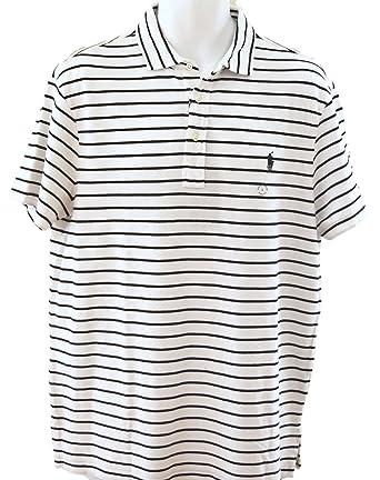 e9b8d4e4 Polo Ralph Lauren Mens Cotton Striped Polo Shirt White XL at Amazon ...