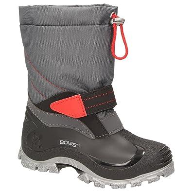 BOWS Robin- Jungen Mädchen Schuhe Kinder Schnee Winter Stiefel Winter Boots Gefüttert Wasserdicht Wasserabweisend Phthalat-Frei, Schuhgröße:20, Farbe:Marineblau
