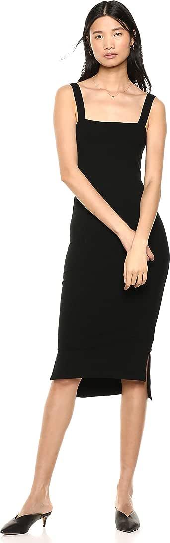 The Drop Women's Amelia Square Neck Strappy Bodycon Midi Tank Dress