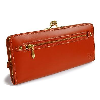80006a674196 Amazon | [イーモノ] e-mono 長財布 財布 がま口 レディース 本革 天然 ...